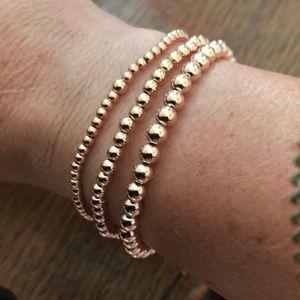 Set of 3 Rose Gold Filled Stretch Bracelets 😊
